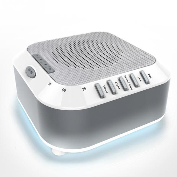 Office White Noise Sleep Sound Machine Ocean Natural Baby Rain Travel Relaxation Soothing Lullaby Nightlight For