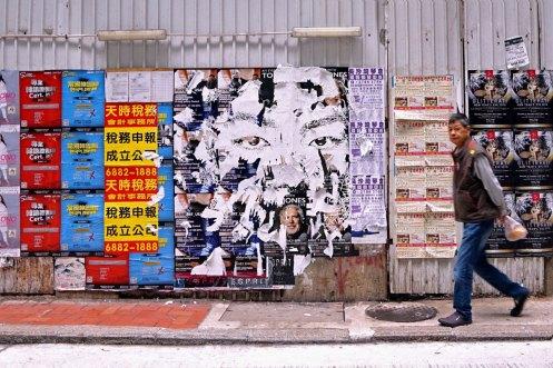 Vhils expose à Hong Kong