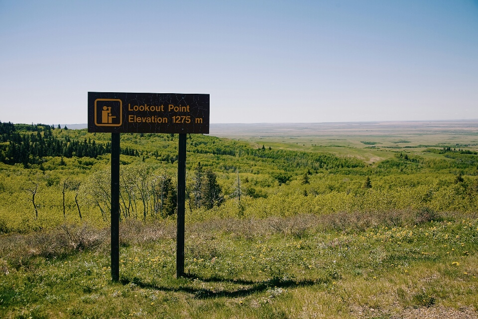 The highest point in Saskatchewan.