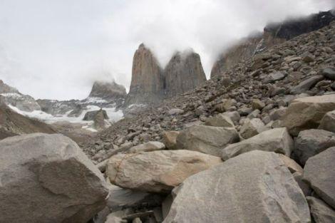 Susanne's bane: the steep boulder field
