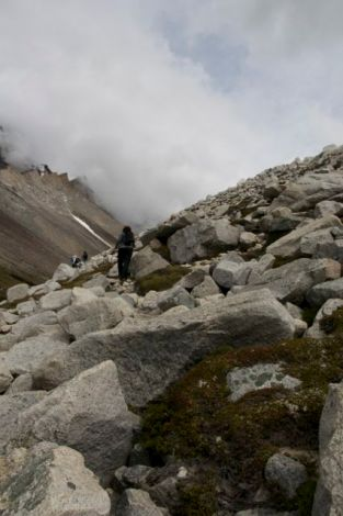 The hated boulder field