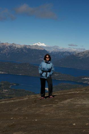 Susanne with Cerro Tronador in the background