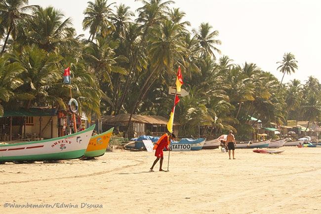 Lifeguards at palolem beach