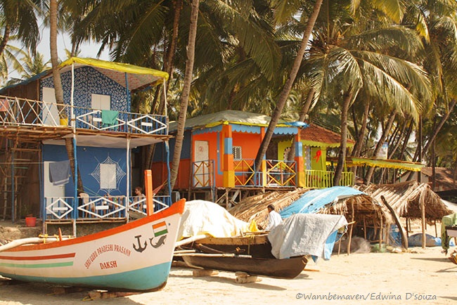 beach shacks at Palolem