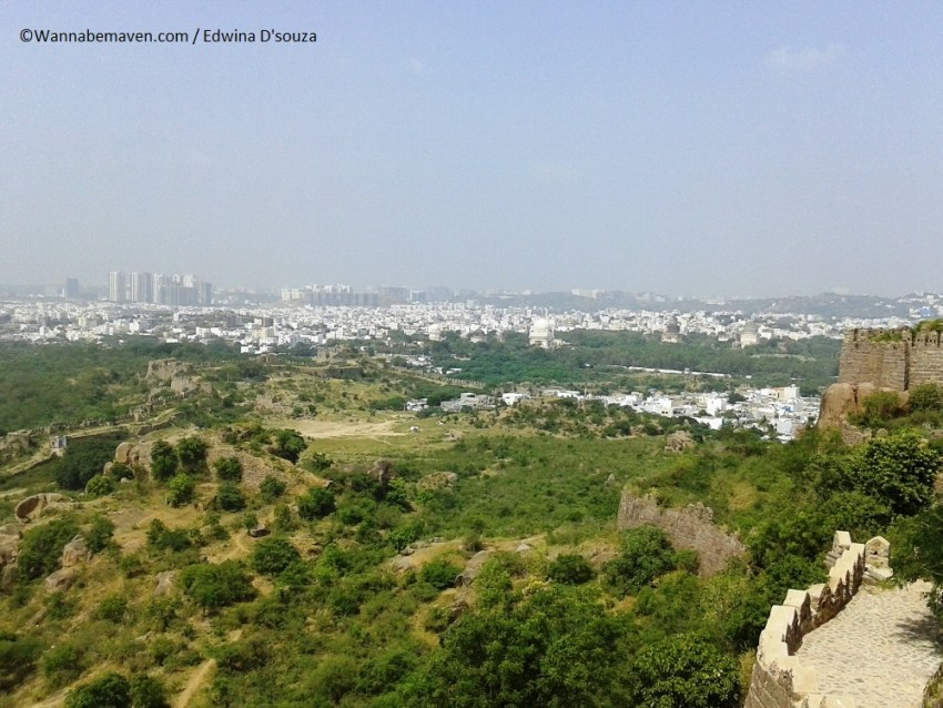 Golconda fort hilltop - city view - things to know about hyderabad for first time travellers
