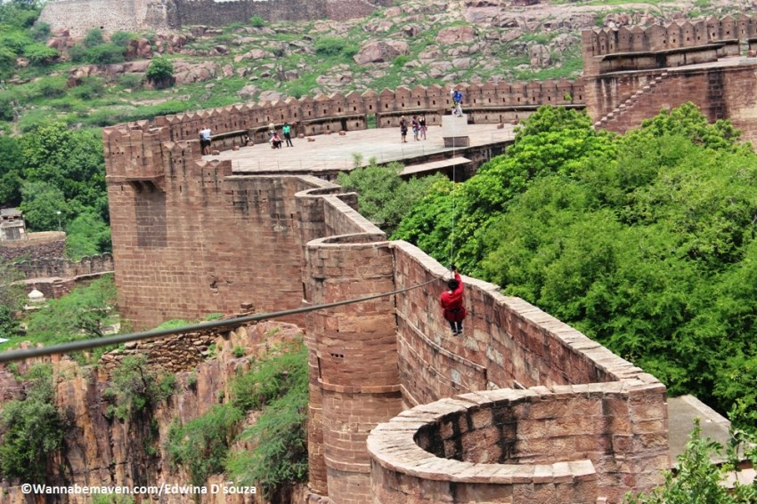 Ziplining at Mehrangarh fort jodhpur