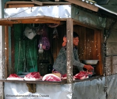 meghalaya travel tips - things to know - pork shop