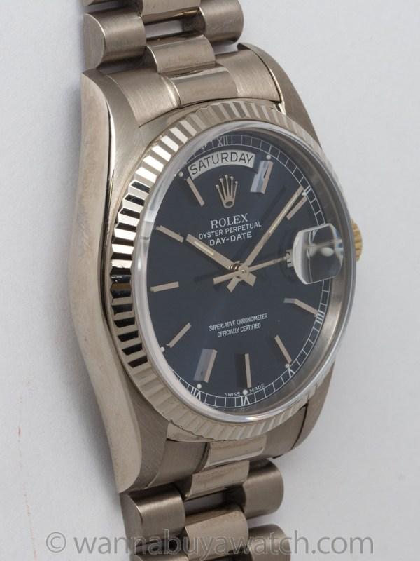 Rolex 18K WG Day Date President circa 1988