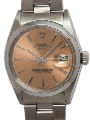 "Rolex SS Oyster Perpetual Date circa 1971 ""Antique Rose"""
