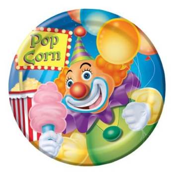 Big Top Birthday Dessert Plates - 8CT-0