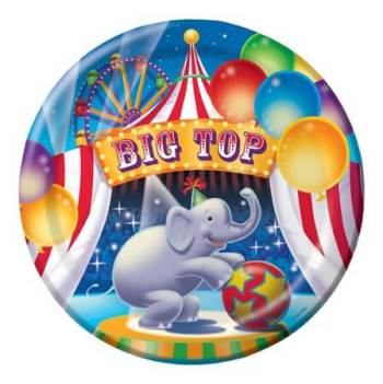 Big Top Birthday Dinner Plates - 8CT-0