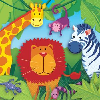 Jungle Animal Lunch Napkins-0
