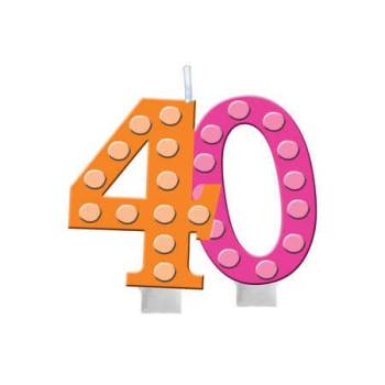 Numerical Candle 40th Birthday-0