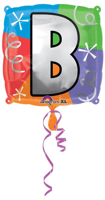 "18"" Square Letter B Balloons S30 -0"