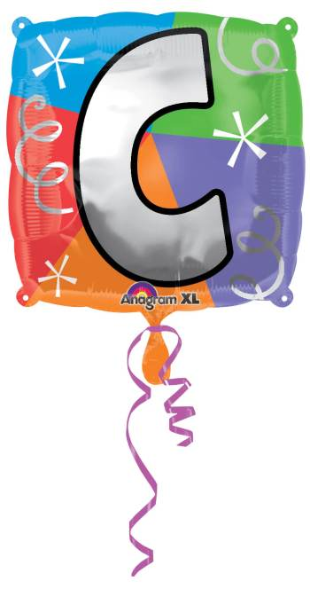 "18"" Square Letter C Balloon S30 -0"