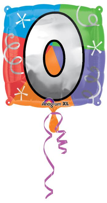 "18"" Square Letter O Balloon S30 -0"