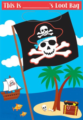 Loot Bags Pirate Party - 8ct-0