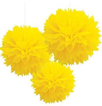 Fluffy Decoration Yellow-0