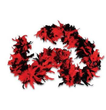 Feather Boa Red/Black-0