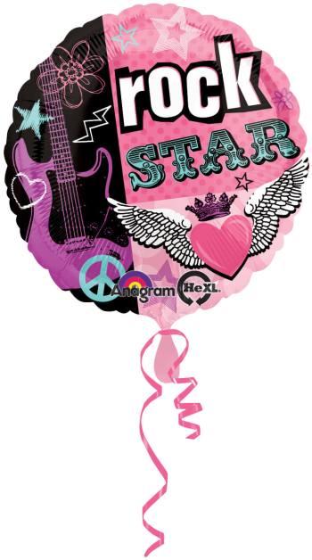 Rocker Girl Birthday Balloon 18in S40-0