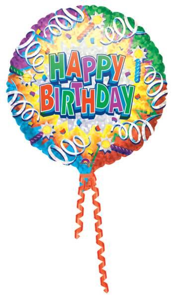 Prismatic Birthday Explosion Balloon 18in S60-0