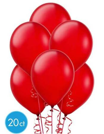 "8"" Red Latex Ballons -20ct-0"