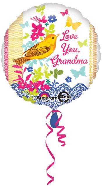 "Love You Grandma Balloons 18"" S40-0"