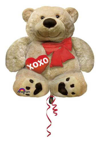 Foil Cuddly Bear Valentines Day Balloon 28in P35-0
