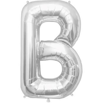 Letter B Silver Mylar Balloon-0
