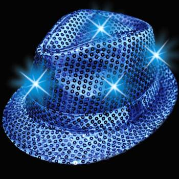 Light Up Sequin Hat Blue-0