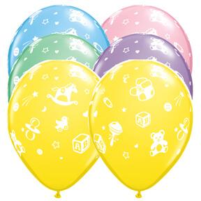 "Baby Nursery Pastel Balloons 12"" 10CT-0"
