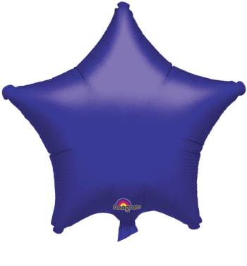 "Metallic Purple Star Balloon 19"" S15-0"