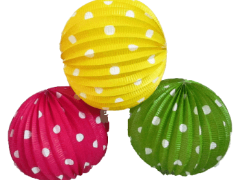 Polka Dot Lanterns - 3CT-0
