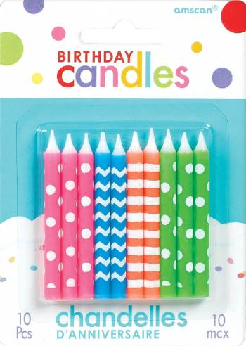 Birthday Neon Candles - 10CT-0