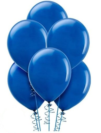 "12"" Royal Blue Latex Balloons - 100CT-0"
