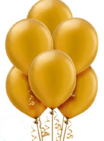 "Golden Latex Balloons 12"" - 100CT-0"
