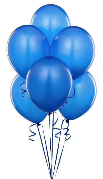 "Metallic Royal Blue Latex Balloons 12"" - 10CT-0"