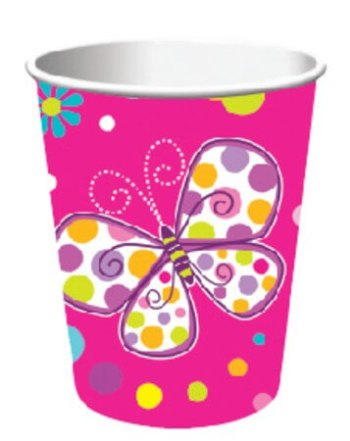 Butterfly Sparkle Paper Cups - 8CT-0