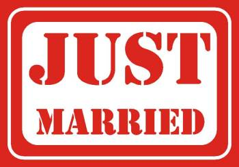Just Married Photo Prop-0