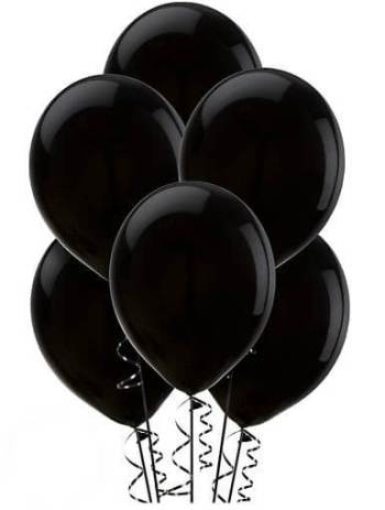 "12"" Black Latex Balloons - 100CT-0"