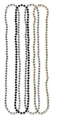 Black, Gold and Silver Bead Necklaces - 1PC-0