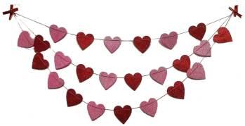 Glitter Heart Triple Layer Garland - Over 4FT-0