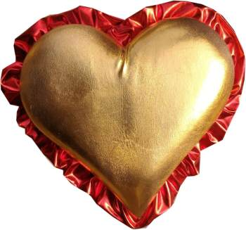 """My Heart Beats For You Golden Hanging 9""""-0"""
