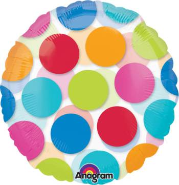 "Cabana Dots Balloon 18"" S50-0"