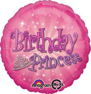 "Birthday Princess Balloon 18"" S40-0"