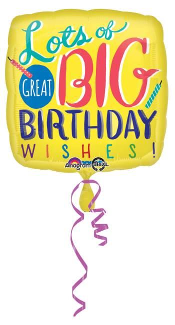 "Big Birthday Wishes Balloon 18"" S40-0"