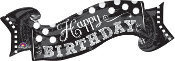 Black & White Chalkboard Birthday P35-0