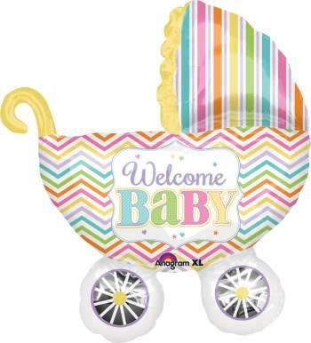 Welcome Baby Pram Balloon P30-0