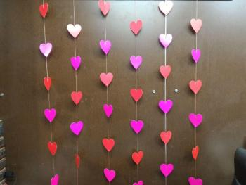 Red & Pink Heart String Decoration - 5PC-0