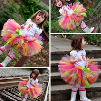 Multicoloured Tutu Skirt-0